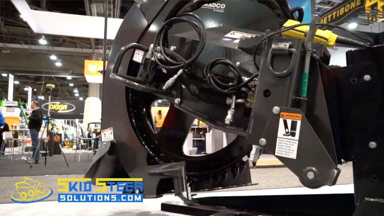 Bradco Rock Saw and Concrete Saw Attachment: Skid Steer Spotlight