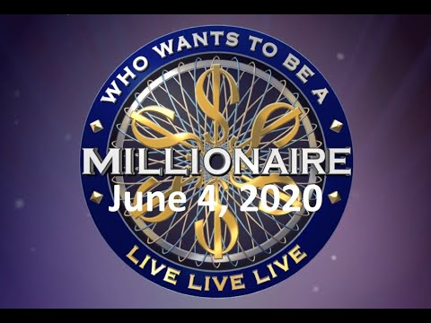 Millionaire LIVE (June 4, 2020) $532,000 Final Livestream Game of Who Wants to Be Question Answers