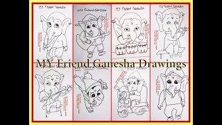 8 Videos of MY FRIEND GANESHA Ganpati Drawing for Kids