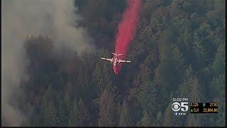 Bear Fire Tears Through Dry Brush And Trees In Santa Cruz Mountains