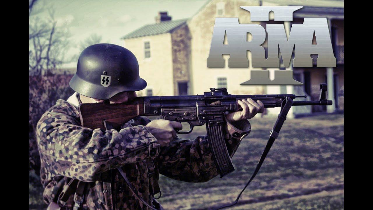 WAFFEN SS TRAINING! ARMA II (WW2 Invasion 1944 Milsim