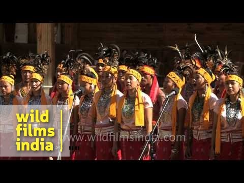 Folk song (Anching Re're) presented by Garo tribe of Nagaland