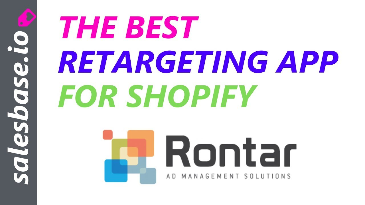 The Best Shopify Retargeting App is Rontar - Get 3,000 Free Impressions Each Month!