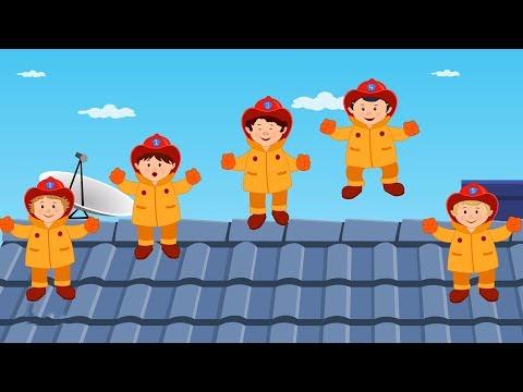 Five Little Fireman  Nursery Rhymes For Kids  Ba Rhyme For Children
