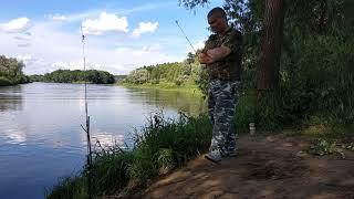 3.07.2020 г . день на рыбалке,речка Клязьма