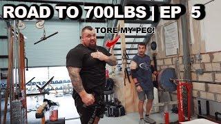 I TORE MY PEC 🤦🏻♂️ | Road to 700LBS Ep 5