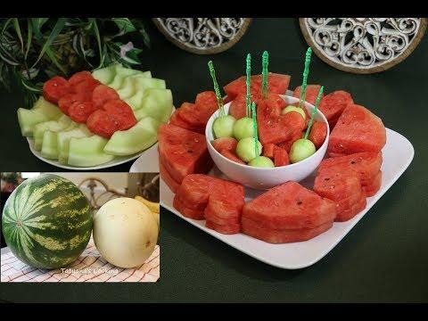 5 Способов Как нарезать Арбуз + Дыню! How To Slice Watermelon
