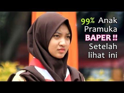 Adek Berjilbab Coklat Versi Pramuka & Lagu Balasan Adek [Full Video Lirik]