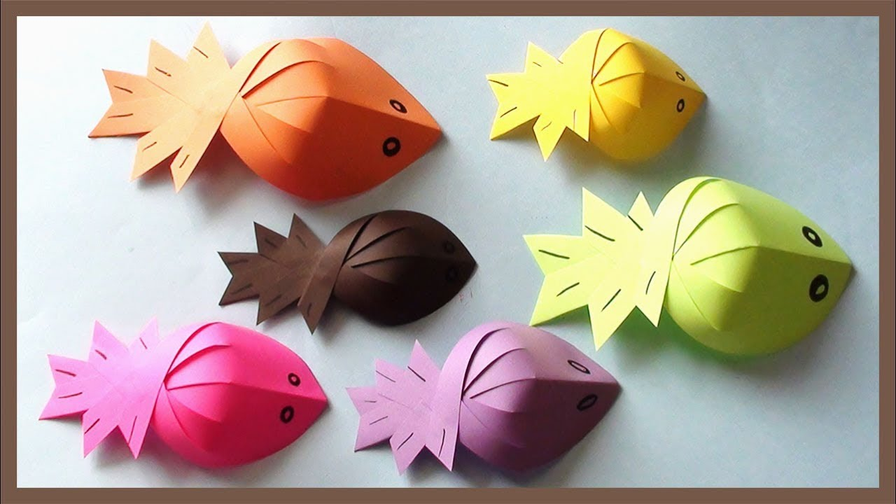 Paper Fish Making Tutorial Simple Easy Crafts Youtube