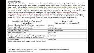 Nutrition Basics Part 8 - Carbohydrates - Fruit