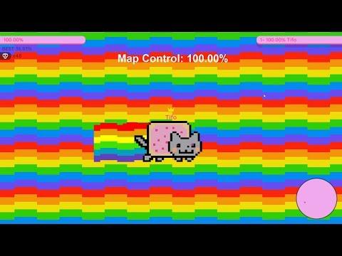 Paper.io 2 Map Control: 100.00% [Nyan Cat]