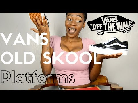 Vans Old Skool Platforms On Feet
