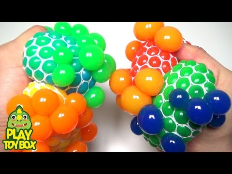 Stress Balls Learning Change Colors Squishy Balloons Slime Play Gooey Water ball
