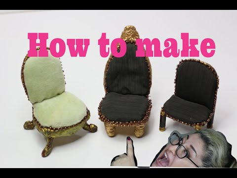 DIY How to make a wooden chair for any doll house