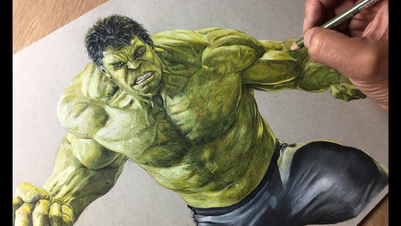 Drawing Hulk Avengers Timelapse Artology Youtube