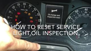 SKODA OCTAVIA 2014 HOW TO RESET THE SERVICE LIGHT