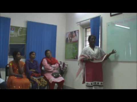 mrs. Jayakumari teaching in Strategic Meeting