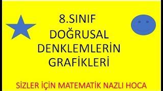 2018-2019 8.SINIF MATEMATİK DOĞRUSAL DENKLEMLERİN GRAFİKLERİ