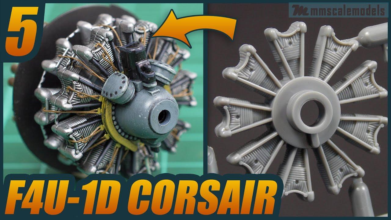 1/48 F4U-1D Corsair - ep 5 - Tamiya plastic scale model build