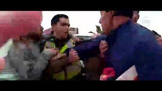 Vecinos protagonizan violenta pelea contra Carabineros en Coquimbo- CHV Noticias