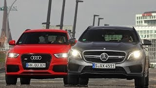 Mercedes GLA 45 AMG vs. Audi RS Q3 - Duell der kompakten Power-SUVs