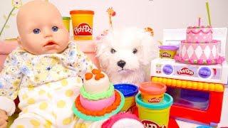 Pastel de Plastilina Play Doh - Juegos de cocina - Fiesta de Cumpleaños - Videos de niñas