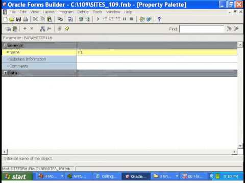 Oracle Apps Tutorial-6:Oracle Forms -How to call one form from another form