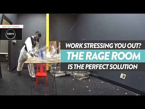 Ultimate Stress Relief In The Rage Room | Thrive