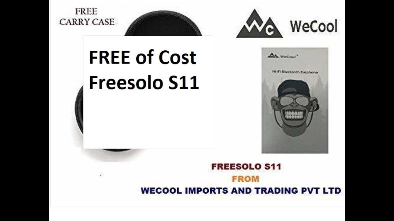 1ef01d3b3a3 Free of Cost WECOOL FREESOLO S11 Wireless Bluetooth EarPhone - YouTube