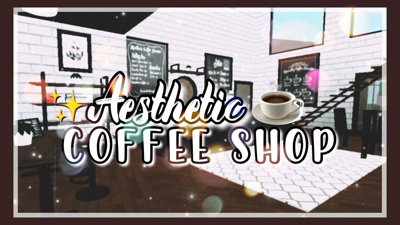 Welcome to bloxburg build tour aesthetic coffee shop for Kitchen designs bloxburg