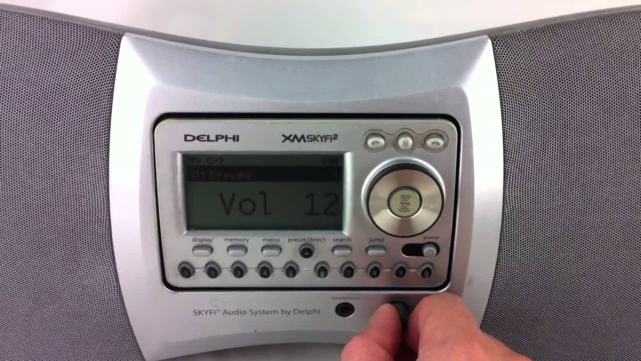 delphi xm skyfi2 as10001 youtube rh youtube com Delphi SKYFi2 XM Radio Receiver XM Radio Delphi Roady XT