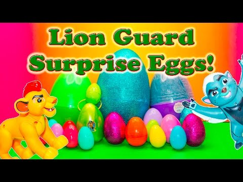 LION GUARD Disney Surprise Eggs Lion Guard + Paw Patrol + Peppa Pig Candy + Toys Videp