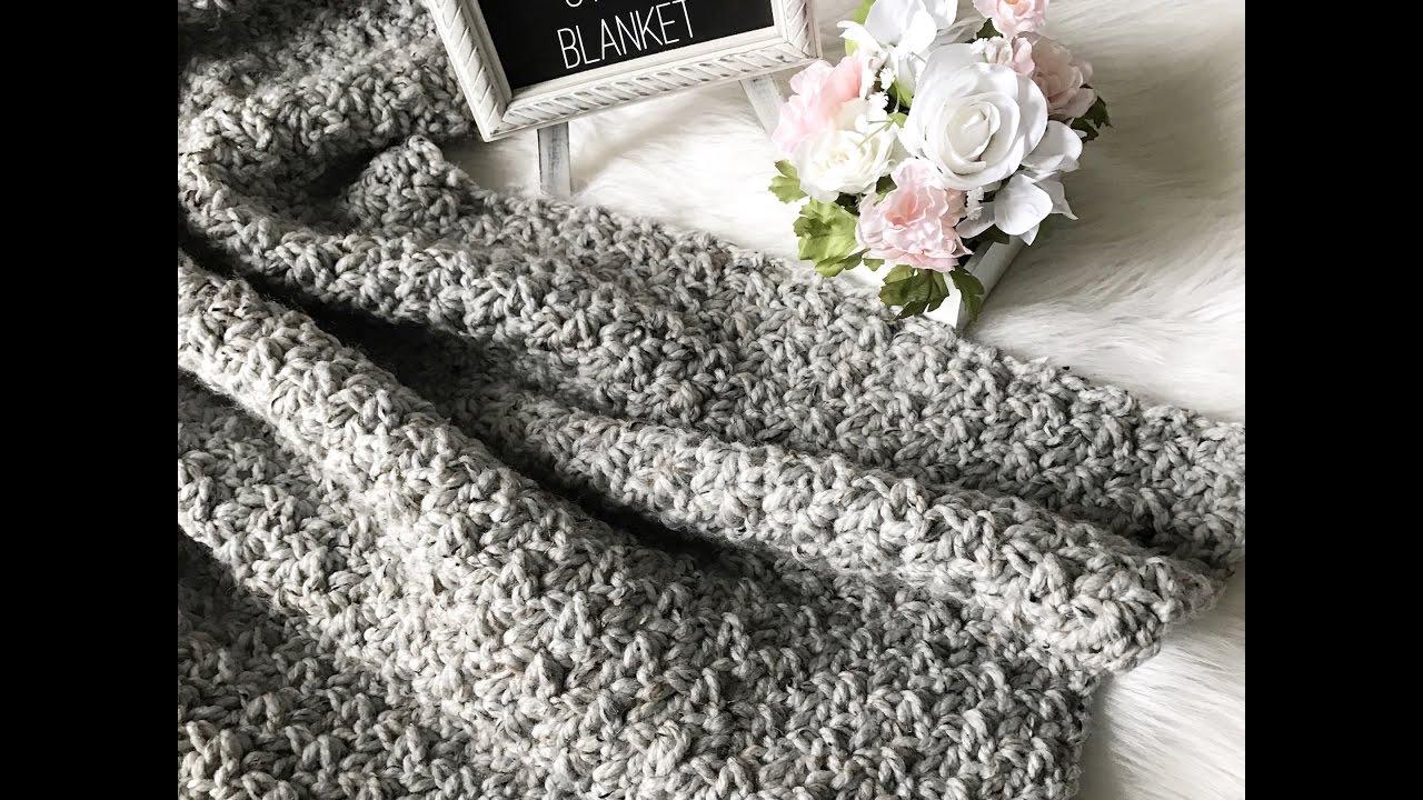 Quick Easy Crochet Blanket Tutorial Youtube