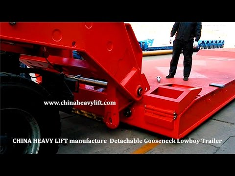 CHINA HEAVY LIFT Detachable Gooseneck Lowboy Trailer