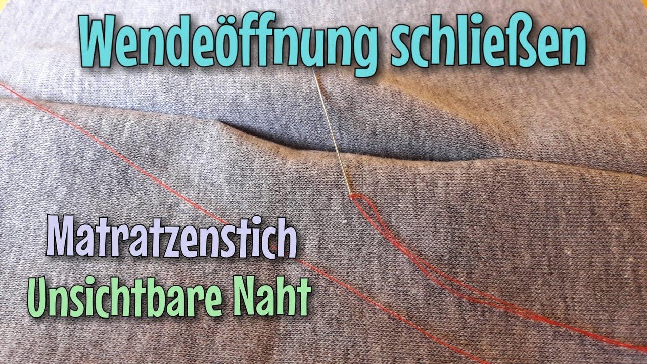 Unsichtbare Naht Wendeoffnung Schliessen Zauberstich Das Original Nahtinchen