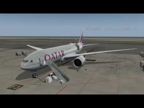 [P3D v3]   PMDG 777-200LRF   Qatar Cargo   Doha (OTHH) - Oslo (ENGM)