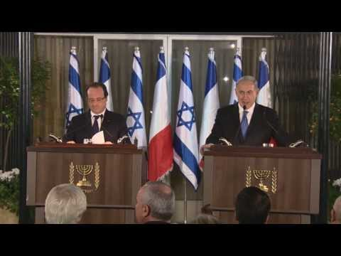 PM Netanyahu and French President François Hollande's Joint Press Conference