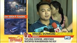 3 Chinese, Arestado Sa Salpukan Ng 2 Suv