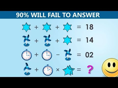 The Table Fan, Clock and Star Puzzle | 90% will fail to answer
