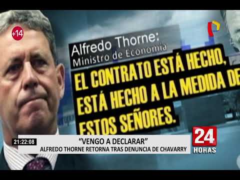 Alfredo Thorne retorna al Perú y responde por denuncia de caso Chinchero