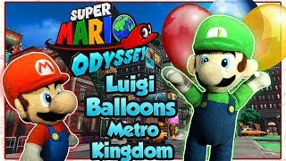 ABM: Super Mario Odyssey !! Metro Kingdom !! Luigi Mini Game Balloon !! HD