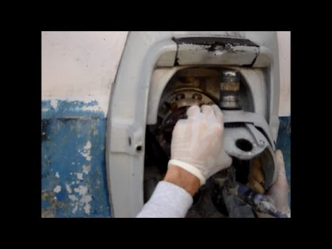 Volvo Penta 290A steering fork removal - YouTube