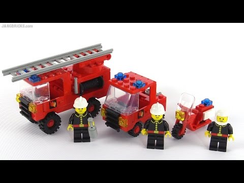lego classic town fire rescue squad from 1984 set 6366 youtube. Black Bedroom Furniture Sets. Home Design Ideas