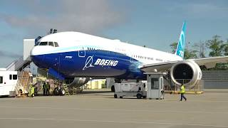 The Boeing 777X FOLDING WINGTIP in ACTION
