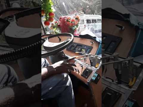 Indian horn in a van
