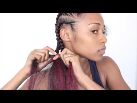 Easy Feed-in Cornrows With Kanekalon Hair