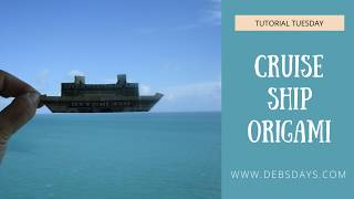 How to Make a Cruise Ship with a Dollar Bill - Origami Craft Project