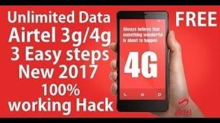 AIRTEL UNLIMITED 3G/4G FREE  INTERNET