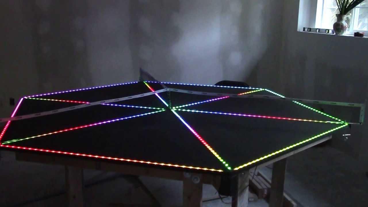 3 Player Ping Pong Table LED Testing