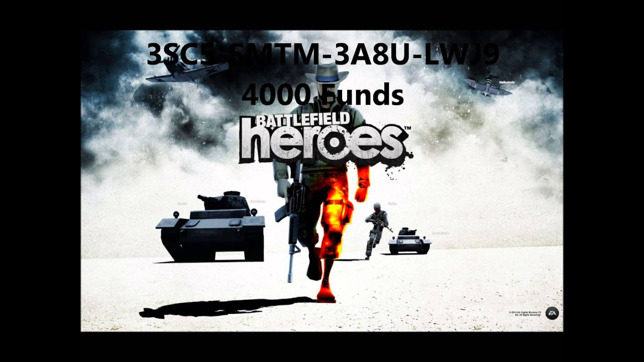 Battelfield Heroes: 4000 Funds Redeem Code - YouTube